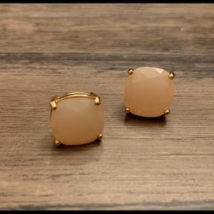 Kate Spade Soft Pink Small Square Stud Earrings
